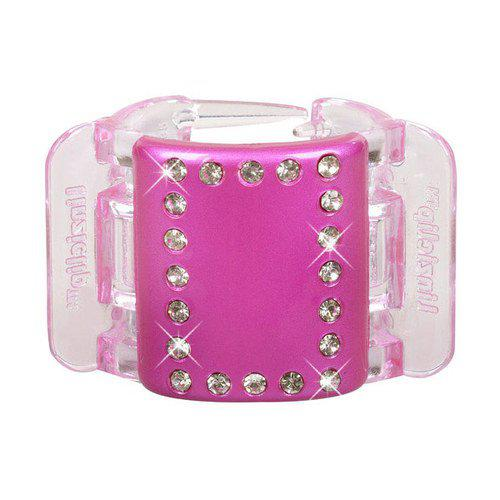 Linziclip Midi Hair Clip W 1szt Pink Crystal