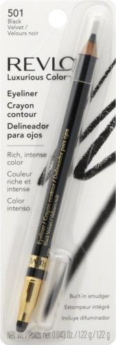 Revlon Luxurious Color Kredka Do Oczu z Gąbeczką 501 Black Velvet 1,22g