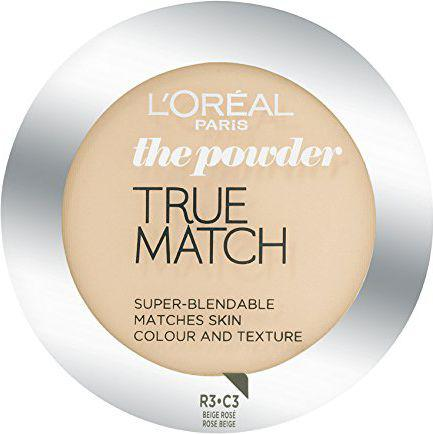 L'Oreal Paris True Match Powder Puder w kamieniu C3 Rose Beige 9g