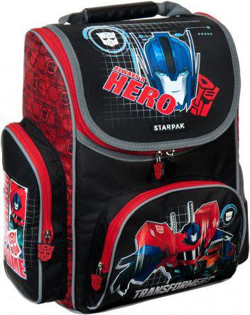 TFU Tornister szkolny Transformers 1/6 czarno-czerwony (348722)