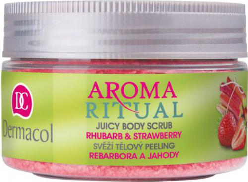 Dermacol Aroma Ritual Juicy Body Scrub Rhubarb&Strawberry W 200g