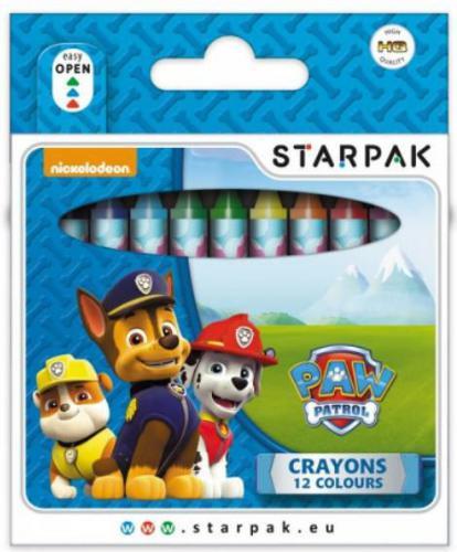 Starpak Kredki świecowe 12 kolorów Paw Patrol - 352905