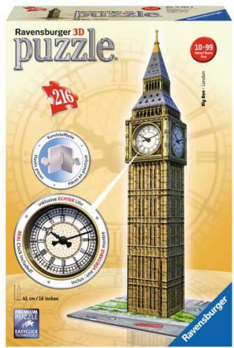 Ravensburger Puzzle 3D Big Ben z zegarem (RAP 125869)