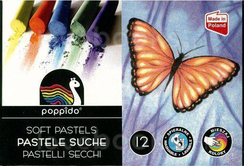 MONA Pastele suche 12 kolorów 10mm długość 80mm (MONA KPS-0599)