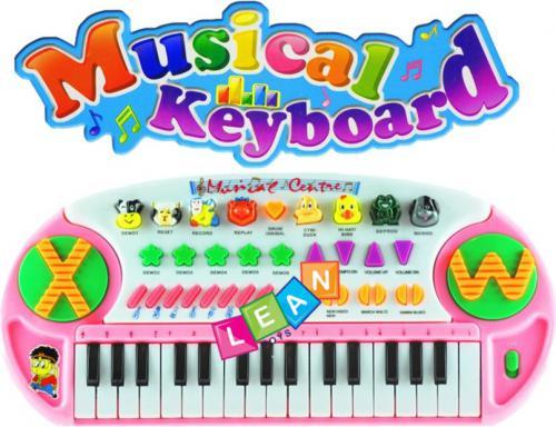 LEANToys Duży keyboard ze zwierzątkami