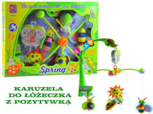 LEANToys Muzyczna karuzela do łóżeczka z pozytywką - Spring