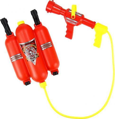 LEANToys Zestaw strażaka - sikawka z magazynkiem