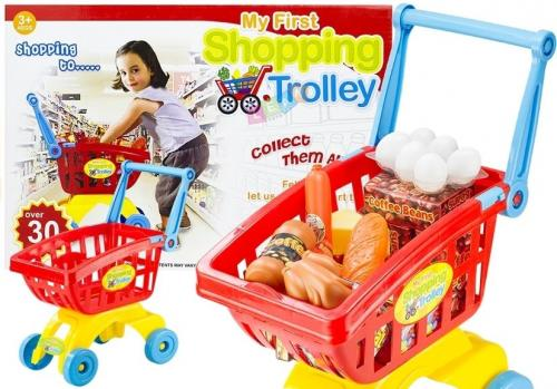 LEANToys Wózek marketowy koszyk Shopping Trolley