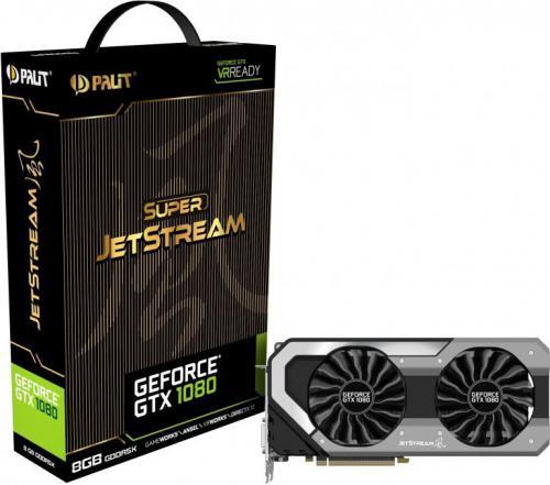 Karta graficzna Palit GeForce GTX 1080 Super JetStream 8GB GDDR5X (256 Bit) DVI-D, HDMI, 3xDP, BOX (NEB1080S15P2J)