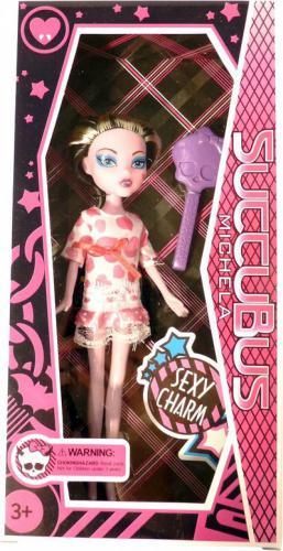 Moneks Upiorne laleczki monster lalka 25cm różowa