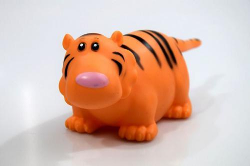 Moneks Tygrys Piszczki zwierzątka gumowe do kąpieli