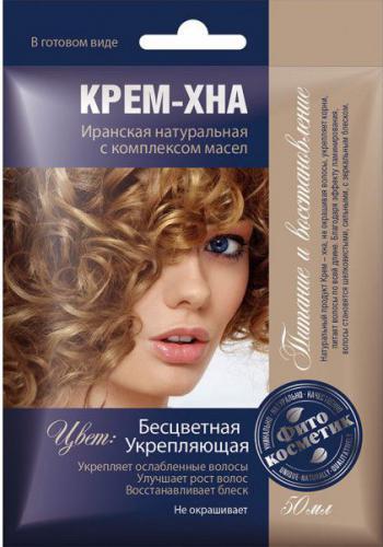 Fitocosmetics Kremowa Henna BEZBARWNA wzmacniająca z kompleksem olejków