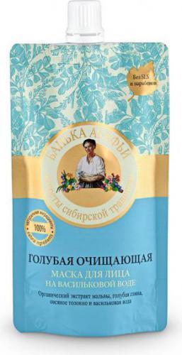 Babuszka Agafia Maska do twarzy bękitna oczyszczająca na wodzie chabrowej 100 ml