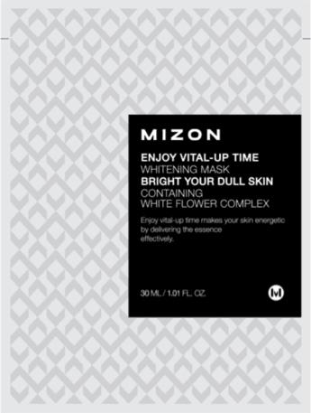 MIZON Rozjaśniająca maska z białą lilią Enjoy Vital-Up Time Whitening Mask