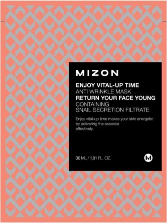 MIZON Przeciwzmarszczkowa maska ze śluzem ślimaka Enjoy Vital-Up Time Anti Wrinkle Mask