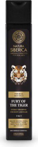 Natura Siberica Men Energetyzujący szampon do mycia włosów i ciała 2w1 Wściekłość Tygrysa 250ml