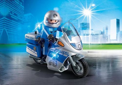 Playmobil City Action, Motocykl policyjny ze światełkiem (6876)