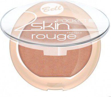 """BELL Róż do policzków """"2 Skin"""" Pocket Rouge nr 054 4.5g"""