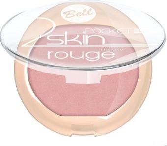 """BELL Róż do policzków """"2 Skin"""" Pocket Rouge nr 055 4.5g"""
