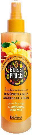 Farmona Farmona Tutti Frutti Mgiełka do ciała rozświetlająca Brzoskwinia & Mango  200ml - 213411