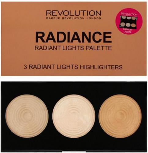Makeup Revolution Highlighter Palette Radiance Rozświetlacze 15g - 732858