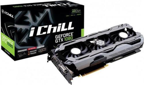 Karta graficzna Inno3D GeForce GTX 1080 iChill X3 8GB GDDR5X (256 Bit) 3xDP, HDMI, DVI, BOX (C108V3-2SDN-P6DNX)