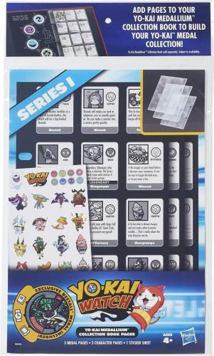 Hasbro YO-KAI watch strony kolekcjonerskie z medalionem  (B6046)