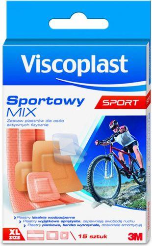VISCOPLAST  Plaster sportowy Mix 15szt. Viscoplast  roz. uniw