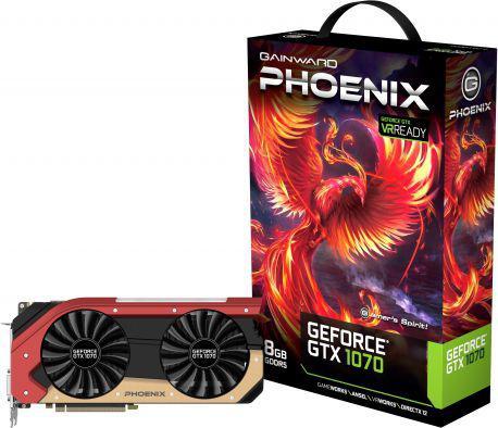 Karta graficzna Gainward GeForce GTX1070 Phoenix 8GB GDDR5 (256 bit) DVI, HDMI, 3x DP, BOX (426018336-3699)