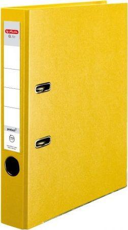 Segregator Herlitz dźwigniowy A4 50mm żółty (0011167517)