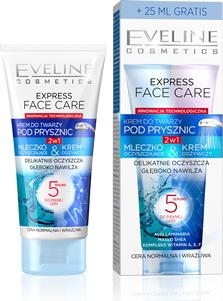 Eveline Express Face Care Krem do twarzy pod prysznic 2w1 cera normalna i wrażliwa 100ml