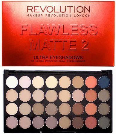 Makeup Revolution Makeup Revolution Eyeshadow Palette Flawless Matte 2 (W) paleta 32 cieni do powiek 32g