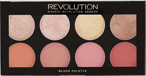Makeup Revolution Blush Palette Blush Goddess 8 Zestaw róży do policzków 13g