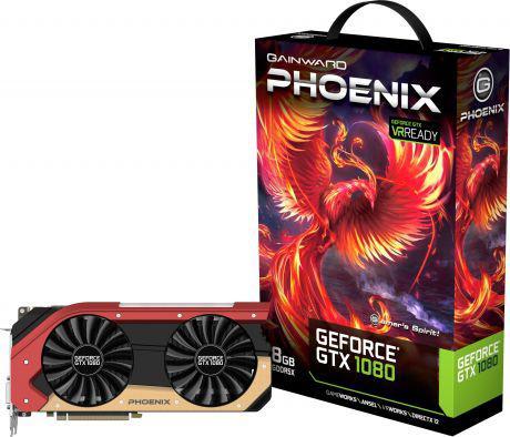 Karta graficzna Gainward GeForce GTX1080 Phoenix 8GB GDDR5X (256 Bit) DVI, HDMI, 3xDP, BOX (4260183363651)