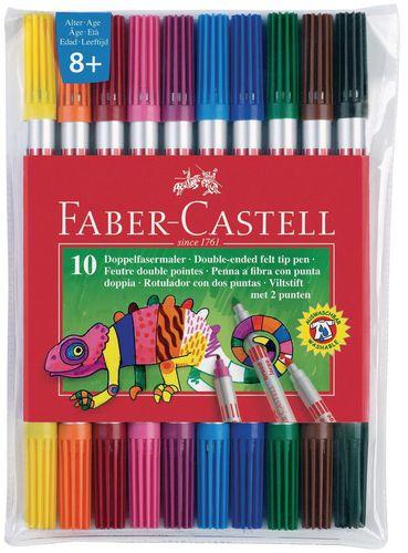Faber-Castell FLAMASTRY DWUSTRONNE ETUI 10 SZT FABER CASTELL