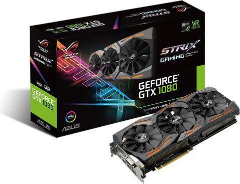 Karta graficzna Asus GeForce GTX1080 Advanced 8GB GDDR5X (256-Bit) DVI, 2xHDMI, 2xDP, BOX (STRIX-GTX1080-A8G-GAMING)