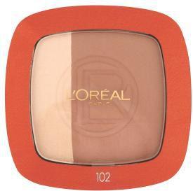 Loreal L'oreal Glam Bronze Duo Powder (W) puder brązujący w kamieniu 102 Brunette Harmony 9g