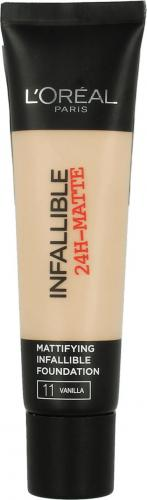 L'Oreal Paris Infallible 24-Matte Mattifying Foundation 11 Vanilla 35ml