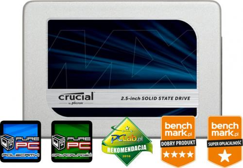 Dysk SSD Crucial MX300 525GB SATA3 (CT525MX300SSD1)