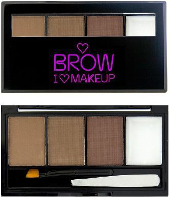 Makeup Revolution Makeup Revolution I Love Makeup Brow Kit (W) paleta do stylizacji brwi I Woke Up This Groomed 4,5g