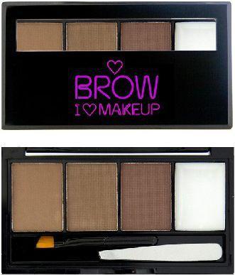 Makeup Revolution Makeup Revolution I Love Makeup Brow Kit (W) paleta do stylizacji brwi I Woke Up This Groomed 4,5g