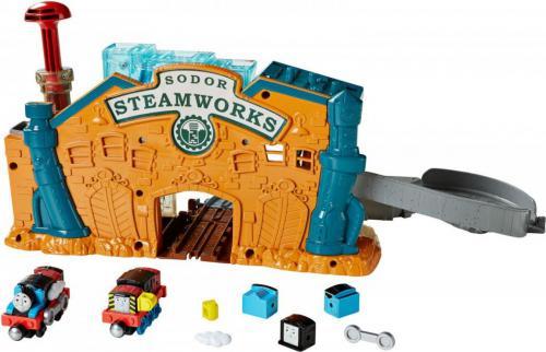 Mattel Tomek i Przyjaciele Take-n-Play Fabryka lokomotywek (DMV91)