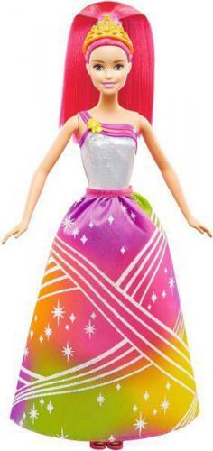 Mattel Barbie Tęczowa Księżniczka ze światełkami (DPP90)