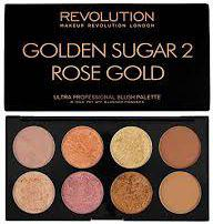 Makeup Revolution Ultra Blush Palette 8 Zestaw do konturowania twarzy Golden Sugar 2 Rose Gold 13g