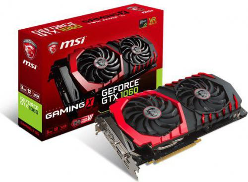 Karta graficzna MSI GeForce GTX 1060 GAMING X 3G 3GB GDDR5 (192 Bit) 3xDP, HDMI, DVI-D, BOX (GTX 1060 GAMING X 3G)