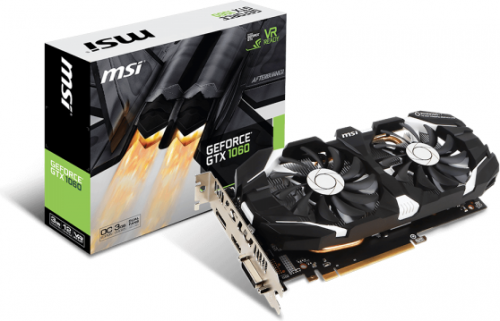 Karta graficzna MSI GeForce GTX 1060 3GT OC 3GB GDDR5 (192 Bit) DP, HDMI, DVI, BOX (GTX 1060 3GT OC 3GB)
