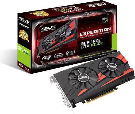 Karta graficzna Asus GeForce GTX 1050 TI 4GB GDDR5 (128 Bit) HDMI, DVI-D, DP, BOX (EX-GTX1050TI-4G)
