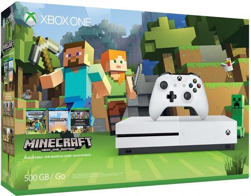 Konsola Microsoft Xbox One S 500 GB  + Minecraft (ZQ9-00047)