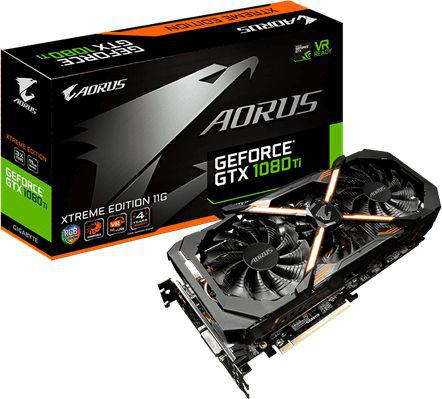 Karta graficzna Gigabyte AORUS GeForce GTX 1080 Ti Xtreme Edition 11GB GDDR5X (352 bit), 3x HDMI, 3x DP, DVI-D BOX (GV-N108TAORUS X-11GD)