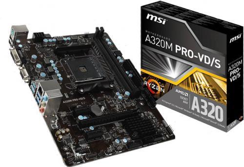 Płyta główna MSI A320M Pro-VD-S, A320M, DDR4, SATA3, USB3.1 gen.1, uATX